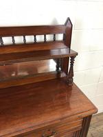 Antique Mahogany Sideboard with Mirror Back (4 of 13)
