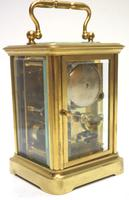 Good Antique French 8-day Carriage Clock Bevelled Case with Bell Alarm Feature (8 of 13)
