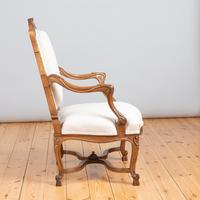 Pair of Large French Walnut & Parcel-Gilt Armchairs (7 of 10)