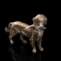 Antique Retriever Statue, English, Brass, Decorative, Dog Ornament, Victorian (8 of 12)
