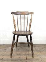 Set of Four Victorian Elm Penny Chairs (4 of 11)