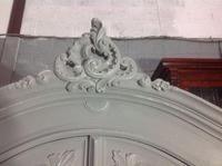 Painted French Carved Armoire in Plummet Grey (5 of 6)