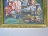 Beautiful Miniature Painting after Boucher Musicians in a Woodland (4 of 7)