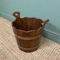 Spectacular 19th Century Victorian Oak Antique Log Bucket (4 of 5)