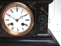 Very Fine French Slate & Marble Mantel Clock Classic 8 Day Striking Mantle Clock (5 of 13)