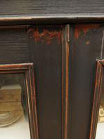 Antique Black Display Cabinet Bookcase, Alcove Cabinet, Gothic Shabby Chic (4 of 17)