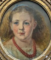 Fine Original 19th Century Circular Oil Portrait Painting of a Child for Reframing/tlc (4 of 11)