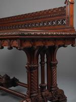 Carved Oak Serving Table Attributed to Pugin (10 of 17)