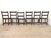 Set of Six Welsh Oak Farmhouse Kitchen Chairs with Bar Backs (9 of 9)