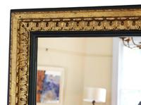 Large Black and Gilt 19th Century Overmantle or Wall Mirror (2 of 6)