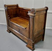 French Walnut and Cherry Empire Style Window Seat (6 of 8)
