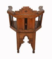 Arabic Chair Antique Damascan Furniture Inlay 1920 (8 of 10)