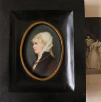 Excellent Berlin Plaque Hand Painted Miniature Portrait (2 of 4)