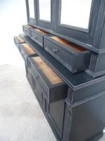 Reclaimed Pine Painted Black / White 6 Door 6 Drawer Kitchen Dresser / Bookcase (3 of 9)