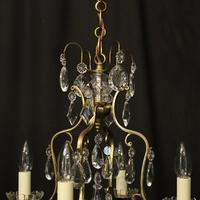 French Gilded 4 Light Cage Antique Chandelier (6 of 10)