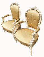Pair of Painted French Fauteuils (3 of 5)