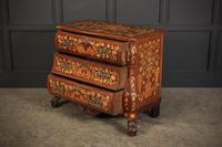 18th Century Dutch Marquetry Inlaid Walnut Bombe Shaped Chest (8 of 11)