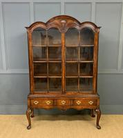 Burr Walnut Dome Topped Bookcase (17 of 18)