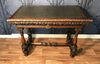 Victorian Carved Oak Library Table (7 of 25)