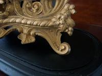 Large Superb Original 19th Century Glass Domed Gilt Mantle Clock For Minor Tlc (9 of 14)