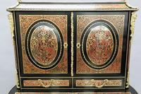 French 19th Century Louis XV Style Boulle Writing Cabinet (8 of 11)