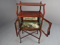 Victorian Inlaid Mahogany Display Table / Whatnot (9 of 12)