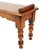 Victorian Mahogany Window Seat Bench (5 of 8)