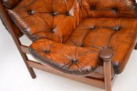 1960's Vintage Guy Rogers Leather Armchair (7 of 9)