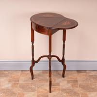 Edwardian Inlaid Rosewood Drop Leaf Occasional Table (9 of 23)