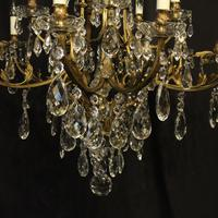 French Gilded Bronze 16 Light Antique Chandelier (3 of 10)