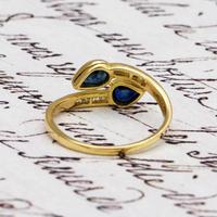 The Vintage Paired Snake Sapphire Ring (3 of 4)