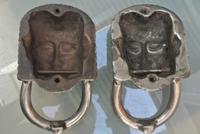 Pair of Victorian Polished Cast Iron Sphinx Pharaoh Door Knocker (4 of 7)