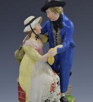 Early 19th Century Pearlware Marine Figure Group Sailor's Return (7 of 12)