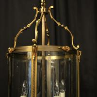French Gilded Bronze Antique Hall Lantern (3 of 10)