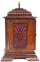 Vintage English Westminster Chime Bracket Clock – Solid Mahogany Musical Mantel Clock (5 of 10)