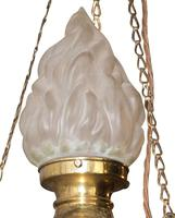 1920's Light Fitting with Flambeau Shade (2 of 3)