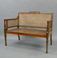 Fine 19th Century Satinwood Bergere Sofa (2 of 6)