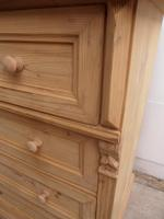 Massive Victorian Antique Pine 4 Drawer Chest of Drawers to wax / paint (5 of 12)