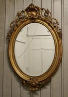 A Very Large French Rococo Oval Gilt Wall Mirror (8 of 10)