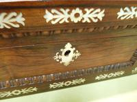Inlaid Rosewood Table Box / Jewellery Box c.1840 (8 of 12)