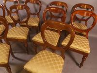 Set of 10 Victorian Mahogany Balloon Back Dining Chairs (9 of 12)