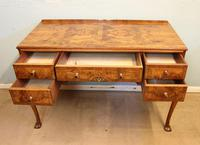 Quality Burr Walnut Side Table Writing Desk (12 of 14)