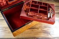 Burr Walnut Ladies/Jewellery Box 1870 (8 of 9)
