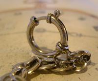 Antique Pocket Watch Chain 1910 Art Nouveau Silver Chrome Graduated Albert Nos (8 of 11)