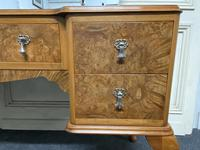 Antique Queen Anne Burr Walnut Dressing Table (4 of 16)