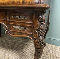 Outstanding Victorian Rococo Rosewood Antique Writing Desk (6 of 11)