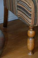 Antique Oak Legged  Afghan Kelim Covered Chair (7 of 10)