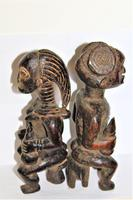 Delightful & Finely Carved Pair of Yoruba Wood Figurines (3 of 8)