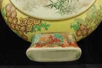 Antique Meiji Japanese Satsuma Moon Flask Vase - Signed (12 of 14)