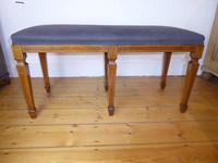 Scottish Rosewood Upholstered Stool
